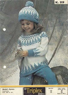 Ravelry: Synve pattern by Sandnes Design Baby Sweater Knitting Pattern, Baby Sweater Patterns, Fair Isle Knitting Patterns, Knit Baby Sweaters, Knitting Designs, Knit Patterns, Knitted Baby Outfits, Knitted Baby Clothes, Crochet Toddler