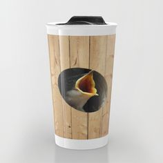 'Feed Me!' travel mug by LLL Creations.  This design is available in many different products.    #society6 #society6_products #LLLCreations #travelmugs