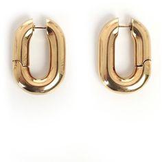 Earring (2 900 SEK) ❤ liked on Polyvore featuring jewelry, earrings, metallic, womenjewelryearrings, engraved jewellery, metallic jewelry, engraved earrings, earring jewelry and chunky earrings