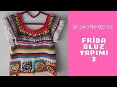 Frida Bluz Yapımı Bölüm 2 | Frida Crochet Top Part 2 - YouTube Crochet Top, Crochet Patterns, Barbie, Embroidery, Youtube, Sweaters, Women, Granny Squares, Video