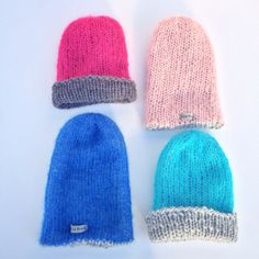 Shisa Brand handknitted warm and soft colourful hats