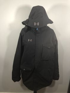 Mens Large Under Armour Winter Coat Black Black Winter Coat, Nike Jacket, Under Armour, The North Face, Jackets, Men, Clothes, Ebay, Fashion