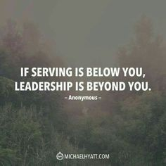 A quote for a leader.