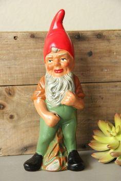 VINTAGE HEISSNER #169 TERRA COTTA COMPOSITION ELF Lawn GNOME Original Tag German