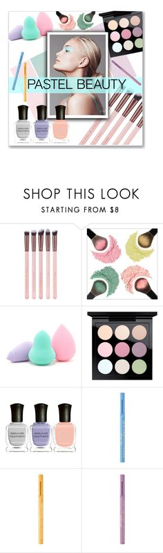 """""""pastel beauty"""" by kristennevanss ❤ liked on Polyvore featuring beauty, Forever 21, MAC Cosmetics, Deborah Lippmann and Too Faced Cosmetics"""