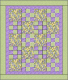 Hop Scotch Quilt Pattern by Heirloom Elegance Designs - A 3 yard Quilt