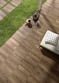 Treverkhome20 - outdoor wood effect thick tiles #Marazzi #ModenaFliser