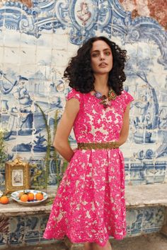 gorgeous lace dress #flowershop #anthropologie