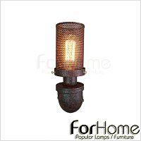 [ ForHome ] W-056 LOFT 工業風 法式 復古酒吧 超粗曠 水管壁燈 D款-仿舊色