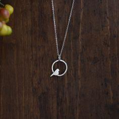 Circle Bird Necklace