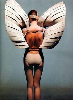 Alexander McQueen, MCQUEEN, SS99. photo: Irving Penn for Vogue December 2000.
