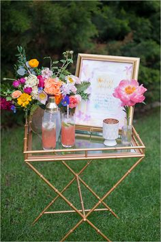 cocktail ideas rhubarb mojito @weddingchicks
