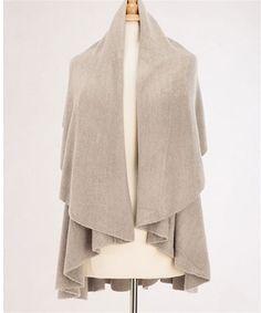 Basic Shawl Vest - Grey