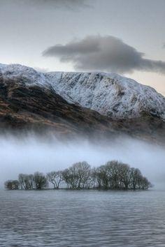 Scotland misty loch