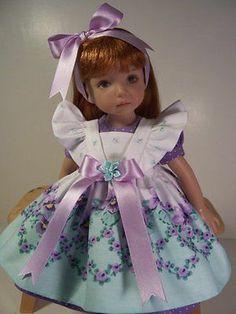 """Sweet Violets"" Made for 13"" Effner by Tddesigns | eBay. Ends 3/16/14. Sold for $82.32."