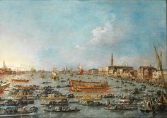 """guardi francesco the bucintoro festival of venice the bacino di s marco with the bucintoro1780 93 (from <a href=""""http://www.oldpainters.org/picture.php?/26850/category/10497""""></a>)"""