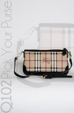 Burberry - Haymarket Peyton Wristlet.  Go to wkrq.com to find out how to play Q102's Pick Your Purse!