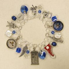 Doctor Who charm bracelet (link also has cute/extremely subtle TARDIS earrings)