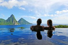 Infinity pools are amazing, which is why we decided to dedicate a post to the Jade Mountain Resort in St. Lucia, a place where each room has its own infinity pool. St Lucia Honeymoon, All Inclusive Honeymoon, Best All Inclusive Resorts, Honeymoon Spots, Romantic Honeymoon, Honeymoon Destinations, Vacation Spots, Honeymoon Ideas, Caribbean Honeymoon