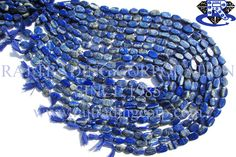 Lapis Lazuli Smooth Oval (Quality B) Shape: Oval Smooth Length: 36 cm Weight Approx: 17 to 19 Grms. Size Approx: 7x10 to 8x11 mm Price $2.80 Each Strand