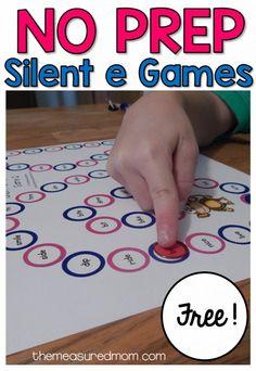Free i-e games for beginning readers. Helpful for teaching the magic E/bossy E rule. Teaching First Grade, Teaching Phonics, First Grade Reading, First Grade Classroom, Kindergarten Literacy, Student Teaching, Literacy Activities, Phonics Games, Word Games