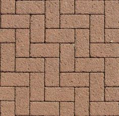 New herringbone brick paving