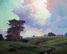 "A very kiwi scene by Brent Redding: ""Expecting rain""."