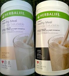 2 HERBALIFE FORMULA 1 NUTRITIONAL SHAKE FRENCH VANILLA AND COOKIES AND CREAM MIX Shipped from USA And Fast Shipping *** Find out more about the great product at the image link. (This is an Amazon Affiliate link and I receive a commission for the sales)