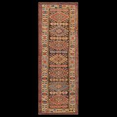 Antique Persian Tribal - Kurdish - 19272   Persian Tribal 3'0 x 9'0   Brown, Origin Persia, Circa 1910
