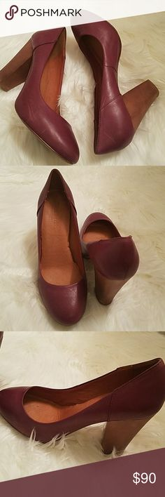 """Beautiful MADEWELL 1837 HEEL/PUMP Super Comfortable all Leather Heels - MADEWELL LEATHER PUMP SHOES Color: Rich Plum  These great looking leather pumps are perfect for work or casual wear. Designed with a 4"""" heel. - Pre-owned (minor scratches) I love these shoes !!! Madewell Shoes Heels"""