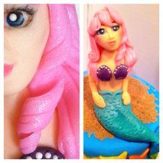 Mermaid cake topper by The Dapper Dipper