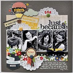 My Creative Scrapbook Kit Club with exclusive sketch and add-ons! Alicia Geiss