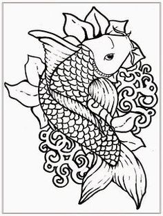 free japanese koi fish coloring pages for adult - Coloring Pages For Grown Ups
