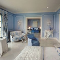 Brian McCarthy, designer - blue and white room - lovely