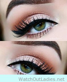 Cute and Pretty make up for green eyes