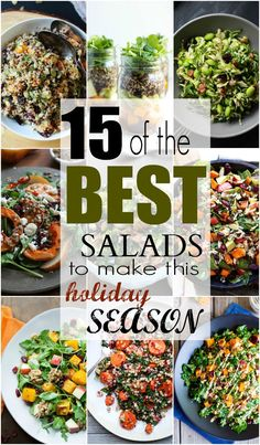 If you're needing a good salad this Holiday season then check out these 15 of the BEST Salads to Make This Holiday Season! | joyfulhealthyeats.com