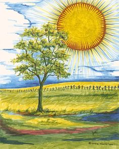 Hands Across The Sun Signed Giclee Print by JudiCainArtist on Etsy, $65.00