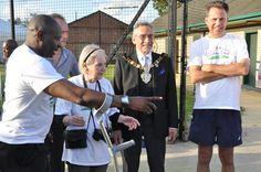 Val (JosephMedia), Steve (CVA), Cathy (Forum member), Deputy Mayor of Croydon Tony Harris ready for the presentations...