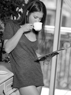 Morning coffee and iPad