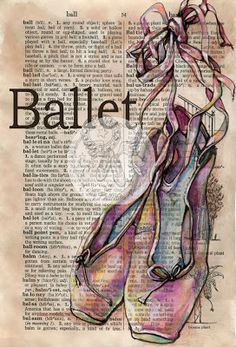 flying shoes art studio: BALLET MIXED MEDIA DRAWING