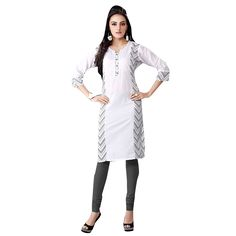 http://www.thatsend.com/shopping/lp/fvp/TESG5084/i/TE16042/iu/xl-white-cotton-kurti  XL White Cotton Kurti Apparel Pattern Plain. Style Casual. Occasion Casual. Work Print. Shape Straight. Top Color White.