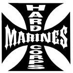 Hardcore Marines Car Truck Vinyl Decal Window Sticker PV393