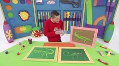 Art Attack | Leon Maakt een Tekening met Textuur | Disney Junior BE