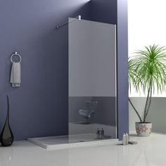 Quality Walk In Shower Enclosure Wet Room Bathroom Cubicle Glass Screen Panel Shower Tile, Diy Tile Shower, Shower Cubicles, Easy Clean Shower, Shower Bath, Large Shower, Shower Cleaner, Shower Screen, Walk In Shower Enclosures