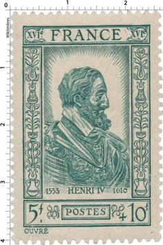Timbre 1943 : HENRI IV 1553-1610 | WikiTimbres
