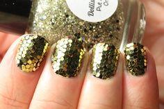 nails glitter gold - Szukaj w Google