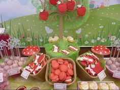 Peppa Pig Candy and Dessert table