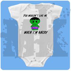 hulk superhero baby onesie or tee by muddykids on Etsy, $10.00