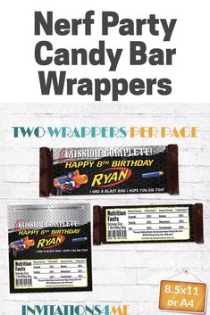 personalized chocolate wrappers template.html