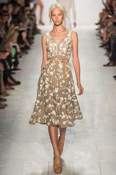 Michael Kors | Spring 2014 Ready-to-Wear Collection | Sasha Luss Modeling | Style.com